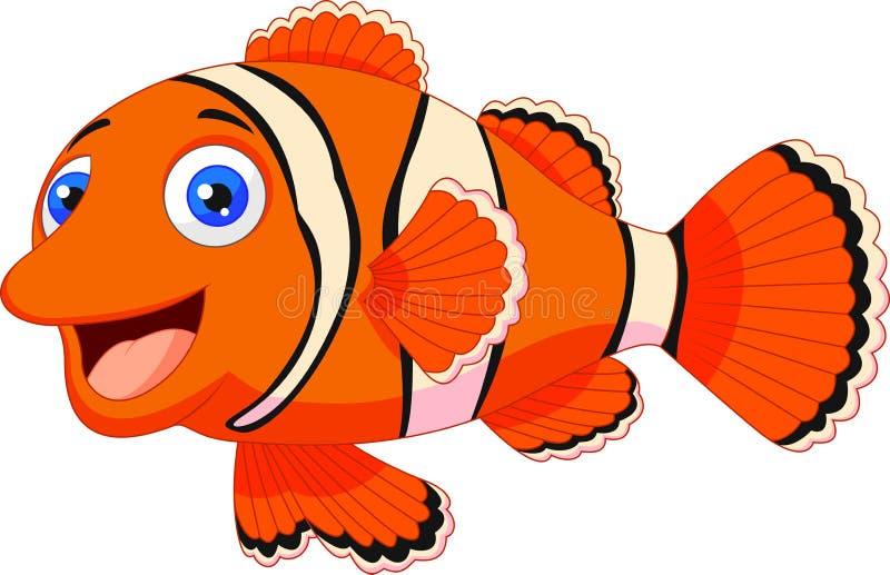 Historieta linda de los pescados del payaso libre illustration