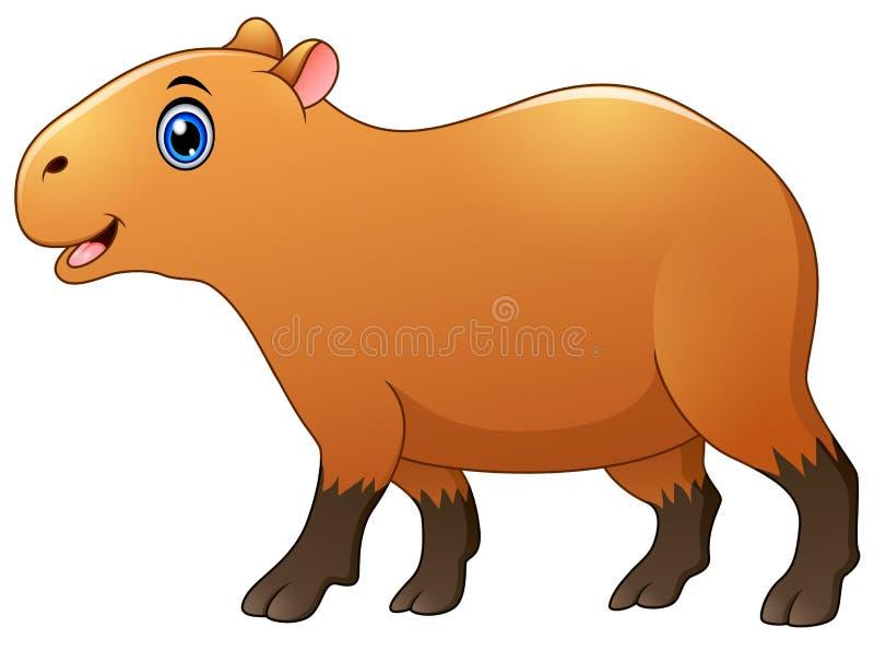 Historieta linda del capybara ilustración del vector