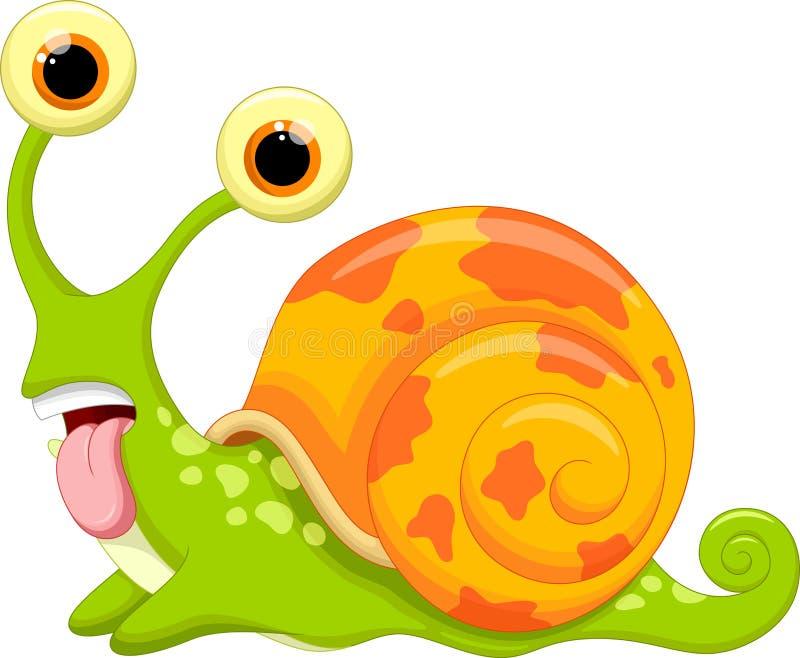 Historieta linda del caracol stock de ilustración