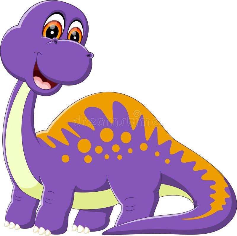 Historieta linda del dinosaurio libre illustration