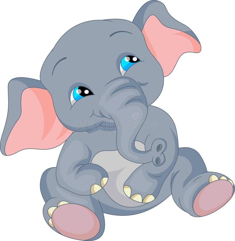 Historieta linda del elefante del bebé libre illustration
