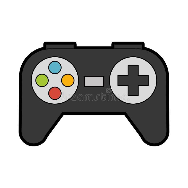 Historieta linda del juego del control ilustración del vector