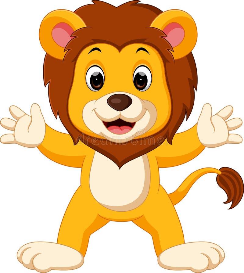 Historieta linda del león ilustración del vector