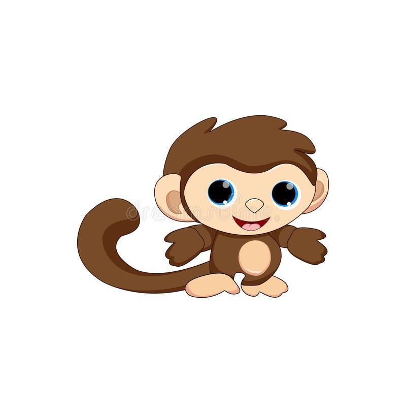 Historieta linda del mono del beb? stock de ilustración