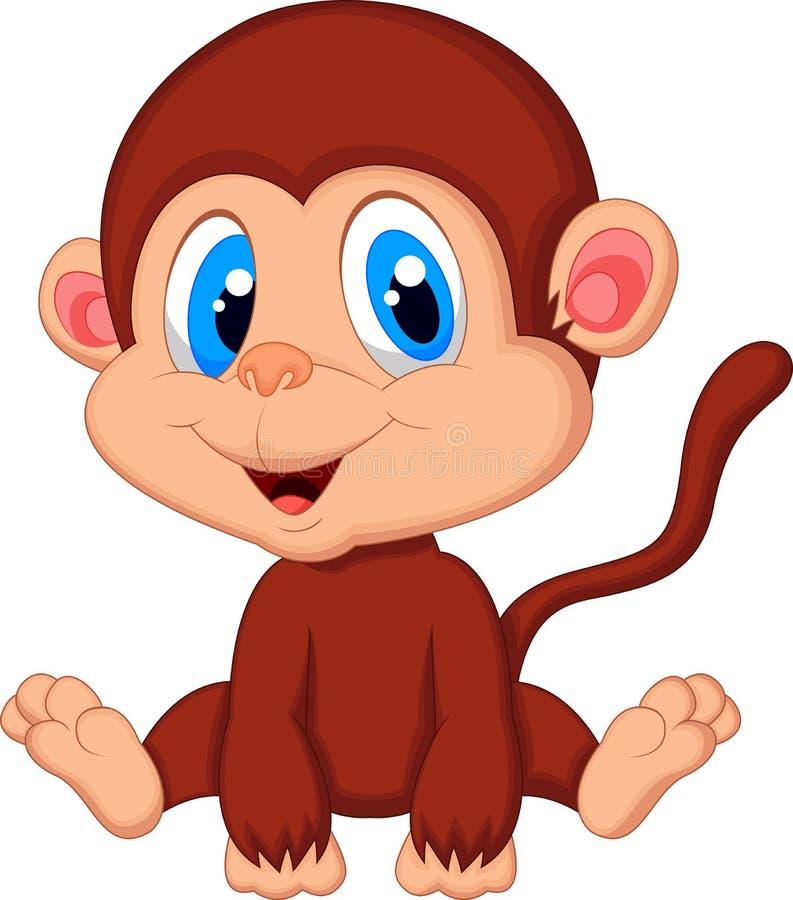 Historieta linda del mono del bebé libre illustration