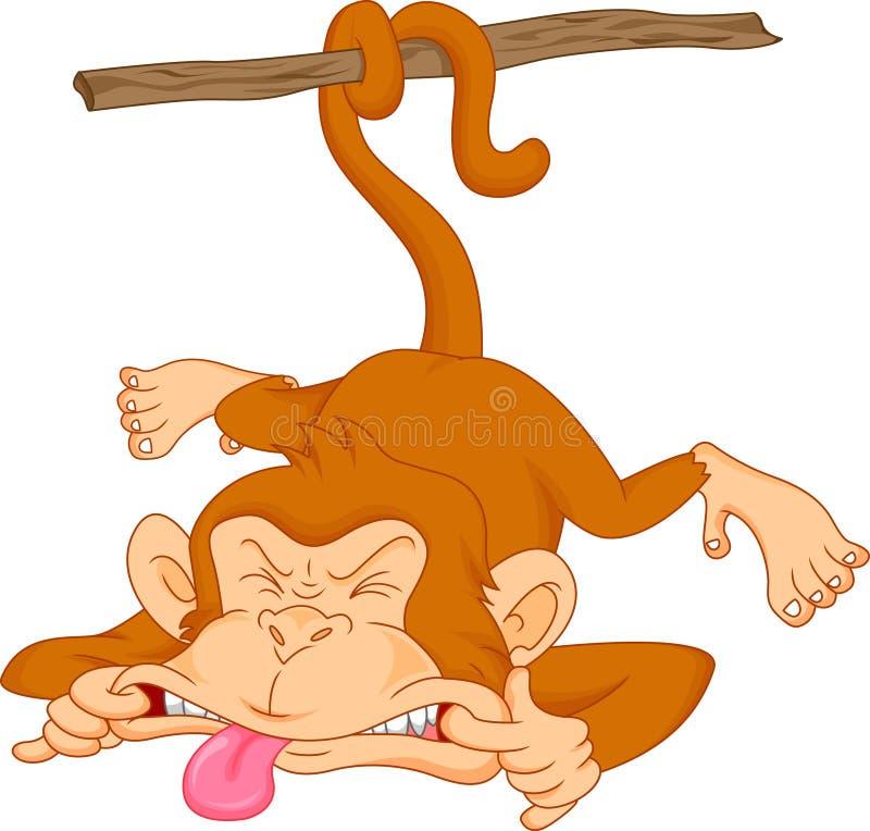 Historieta linda del mono del bebé ilustración del vector