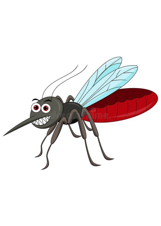 Historieta linda del mosquito stock de ilustración