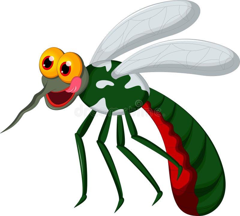 Historieta linda del mosquito ilustración del vector