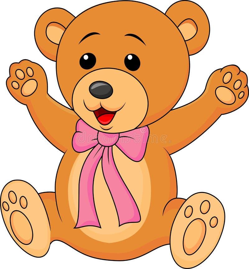 Historieta linda del oso del bebé ilustración del vector