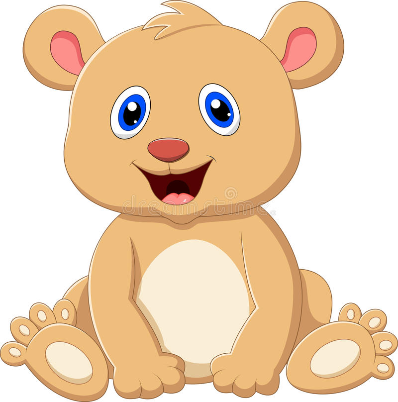 Historieta linda del oso del bebé libre illustration