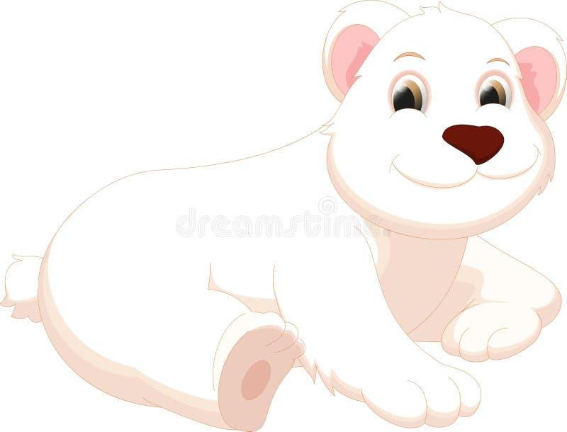 Historieta linda del oso polar ilustración del vector