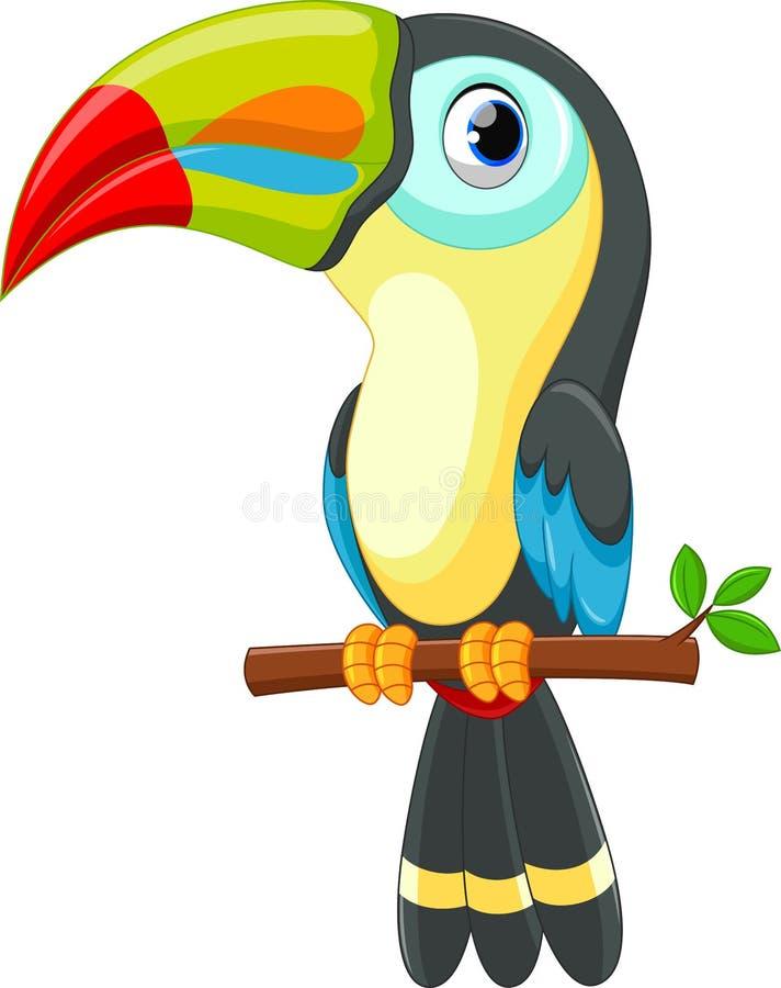 Historieta linda del pájaro del tucán libre illustration