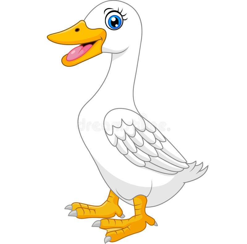 Historieta linda del pato stock de ilustración
