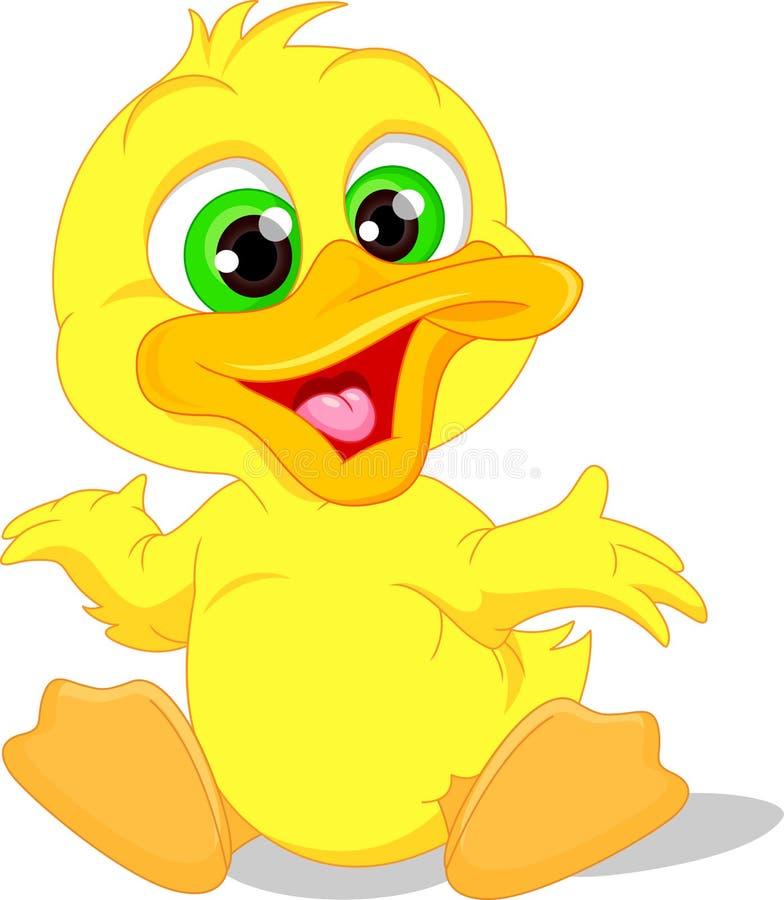 Historieta linda del pato del bebé libre illustration