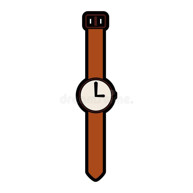 Historieta linda del reloj del vintage libre illustration