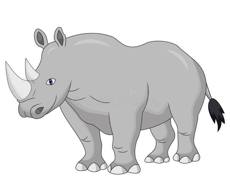 Historieta linda del rinoceronte libre illustration