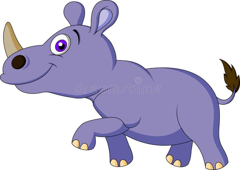 Historieta linda del rinoceronte ilustración del vector