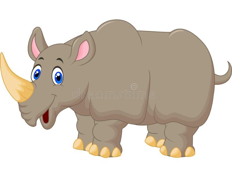 Historieta linda del rinoceronte stock de ilustración