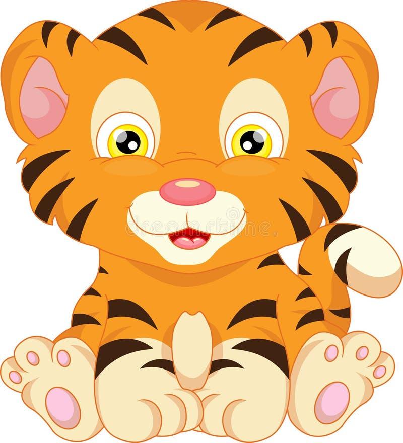 Historieta linda del tigre de bebé ilustración del vector