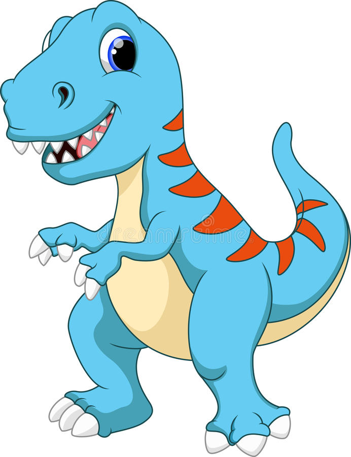Historieta linda del tiranosaurio ilustración del vector