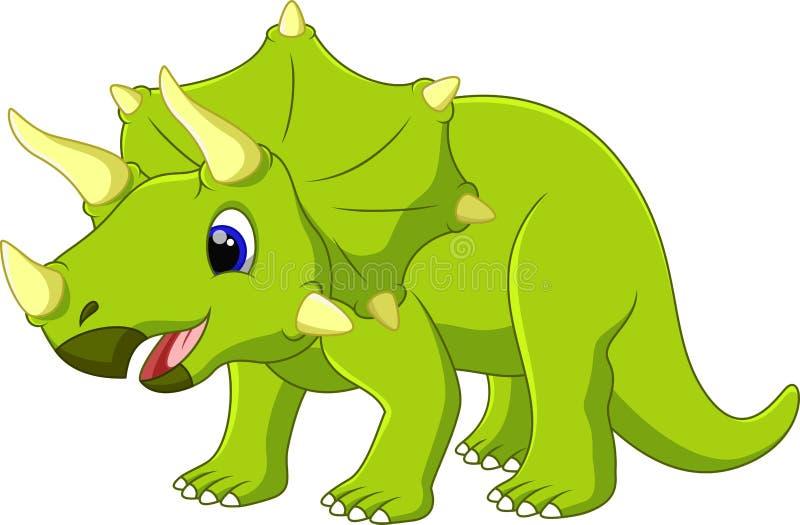 Historieta linda del triceratops stock de ilustración