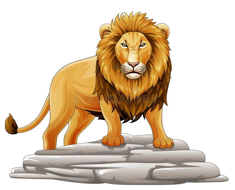Historieta Lion Mascot ilustración del vector