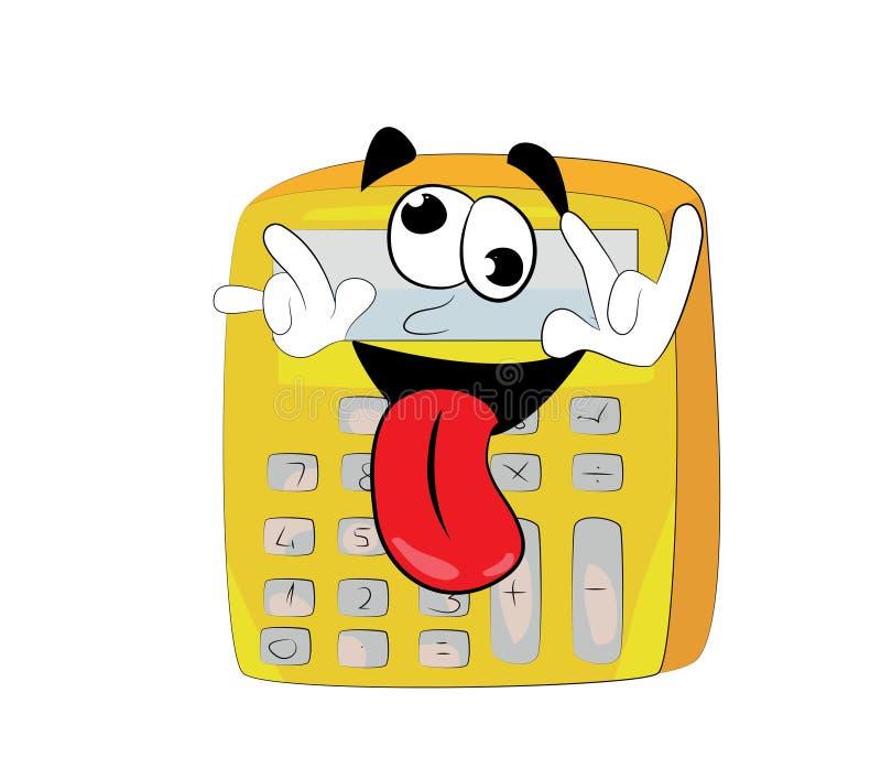 Historieta loca de la calculadora stock de ilustración