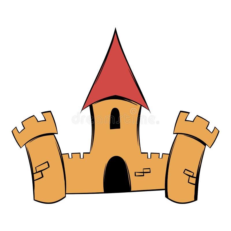 Historieta medieval del icono de la fortaleza del castillo libre illustration