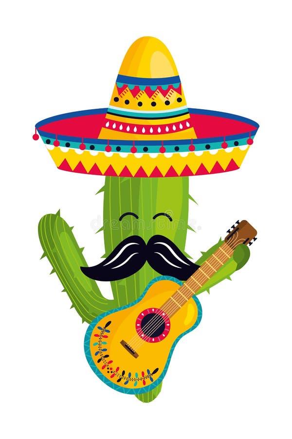 Historieta mexicana de la cultura stock de ilustración