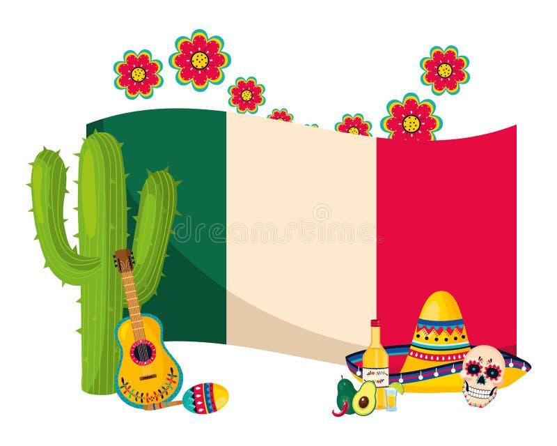 Historieta mexicana de la cultura ilustración del vector