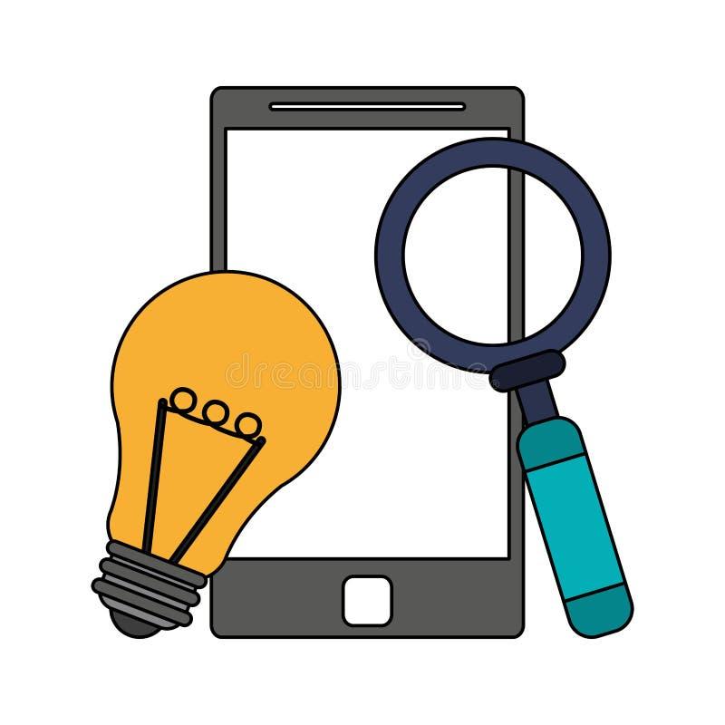 Historieta moderna digital del hardware de la tecnología stock de ilustración