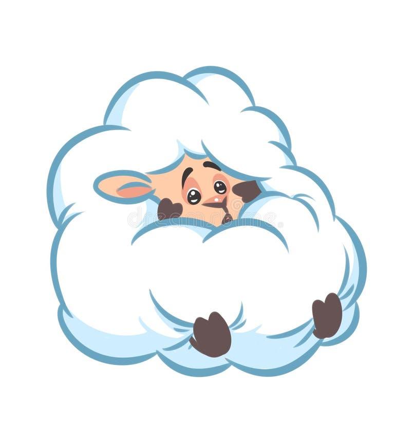 historieta mullida del miedo de la piel de las ovejas libre illustration