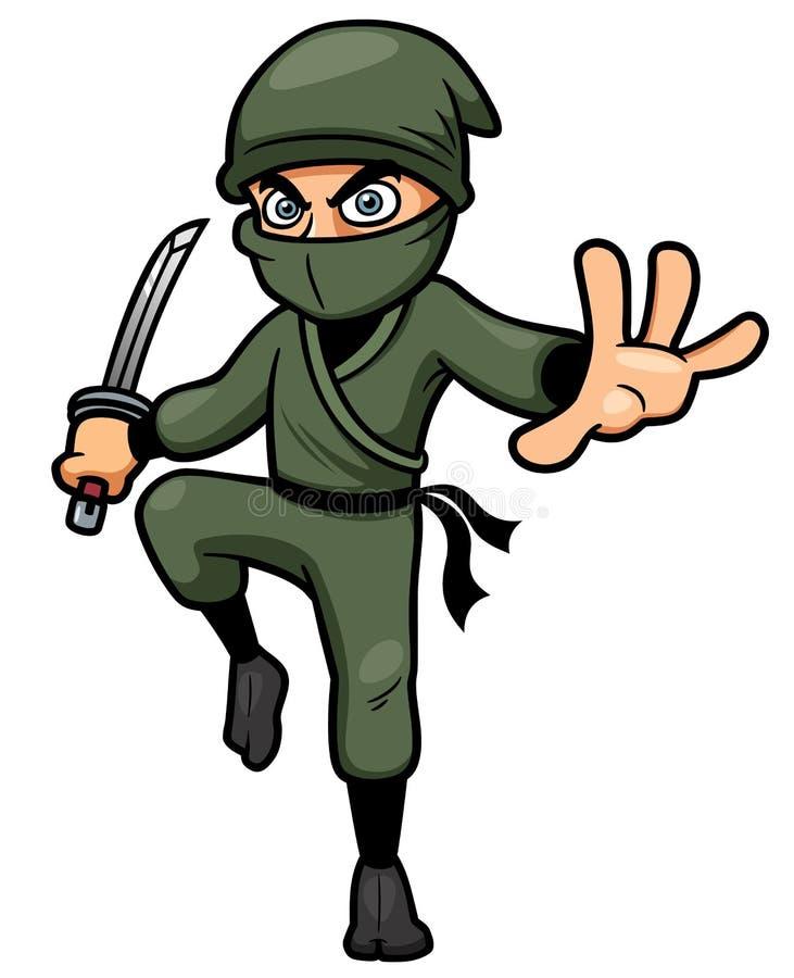 Historieta Ninja stock de ilustración