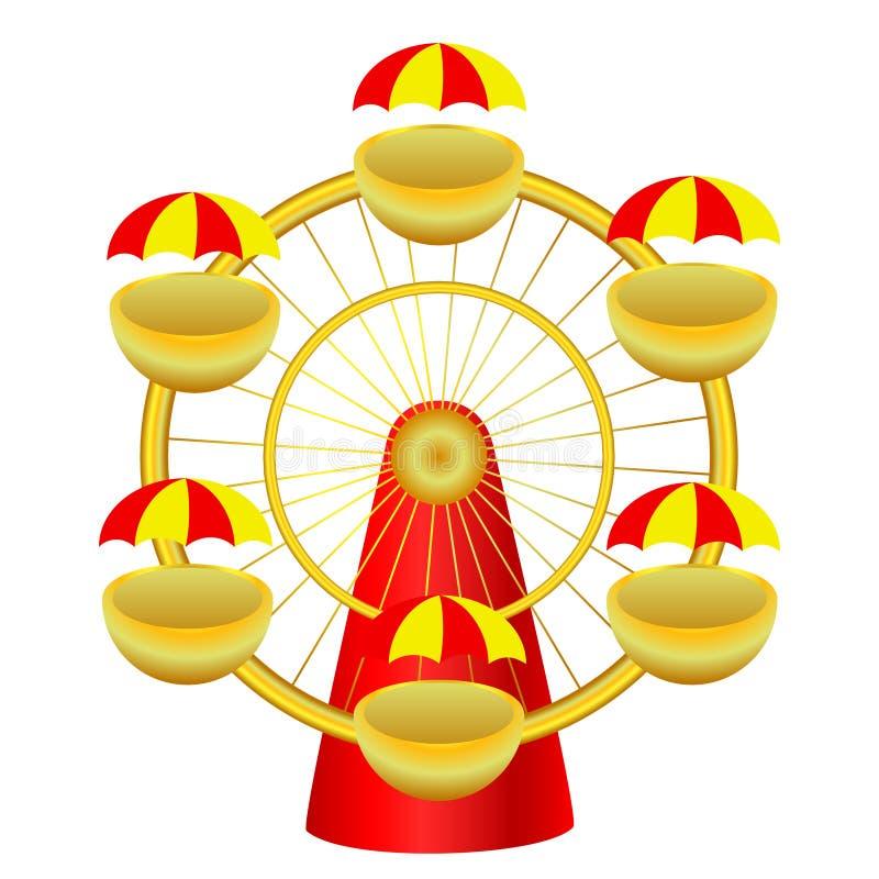 historieta Noria brillante para el circo Aislado stock de ilustración