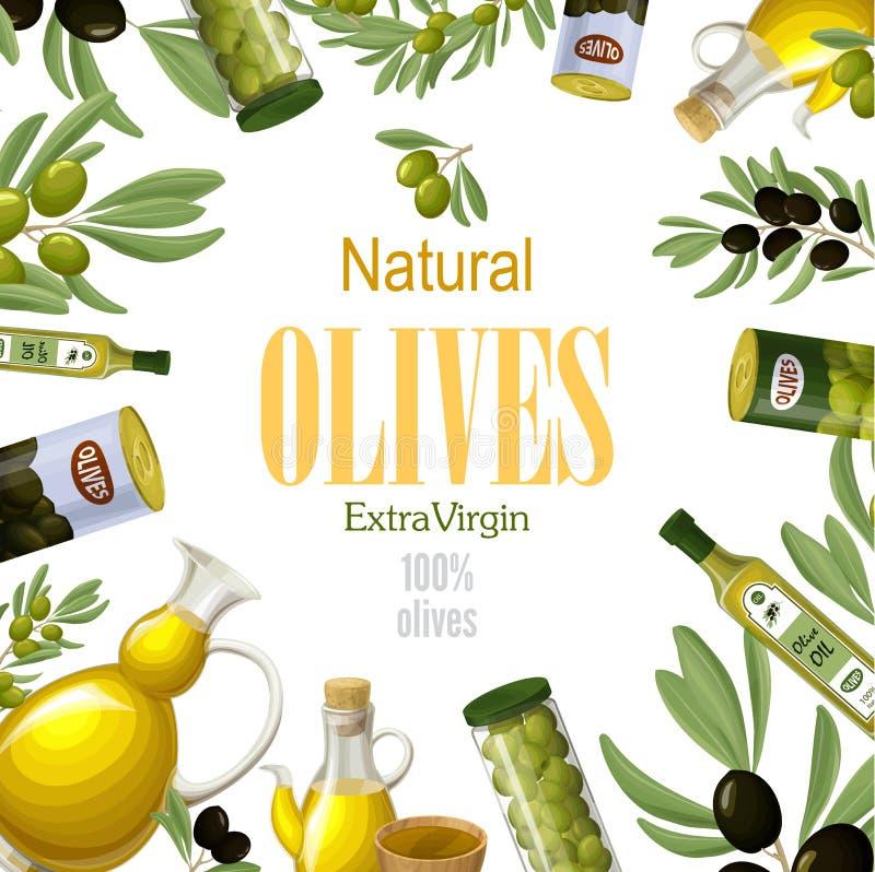 Historieta Olive Template natural superior ilustración del vector