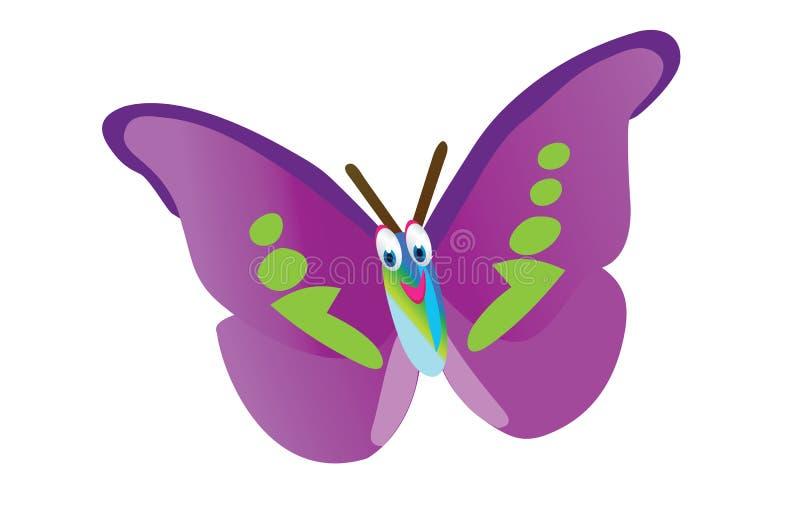 Historieta púrpura de la mariposa libre illustration