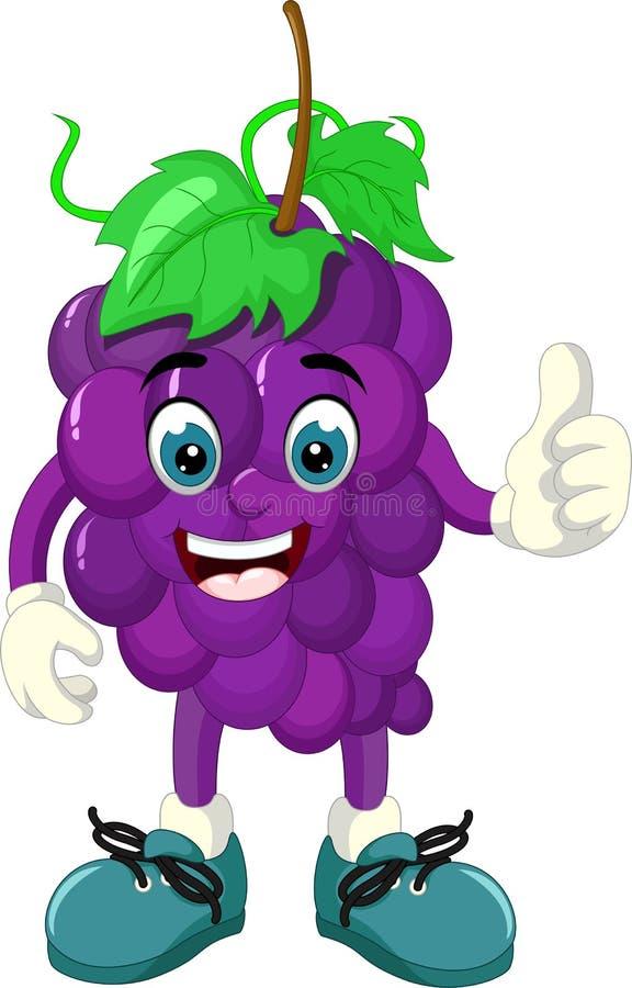 Historieta púrpura divertida de la uva libre illustration