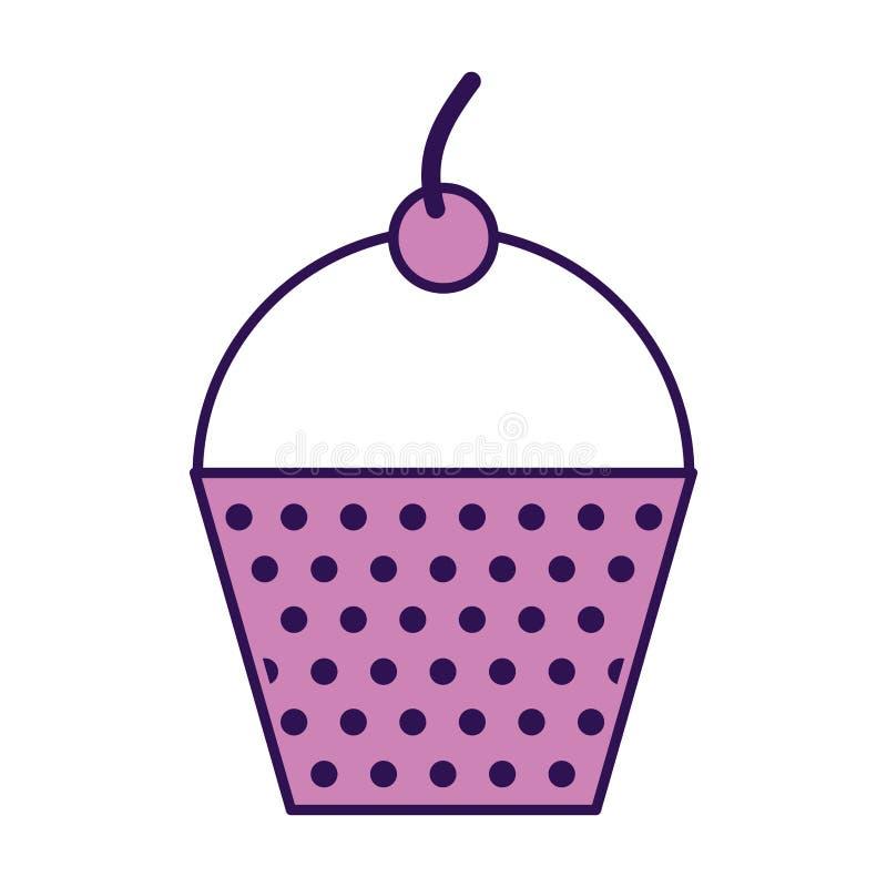 Historieta púrpura linda de la magdalena ilustración del vector