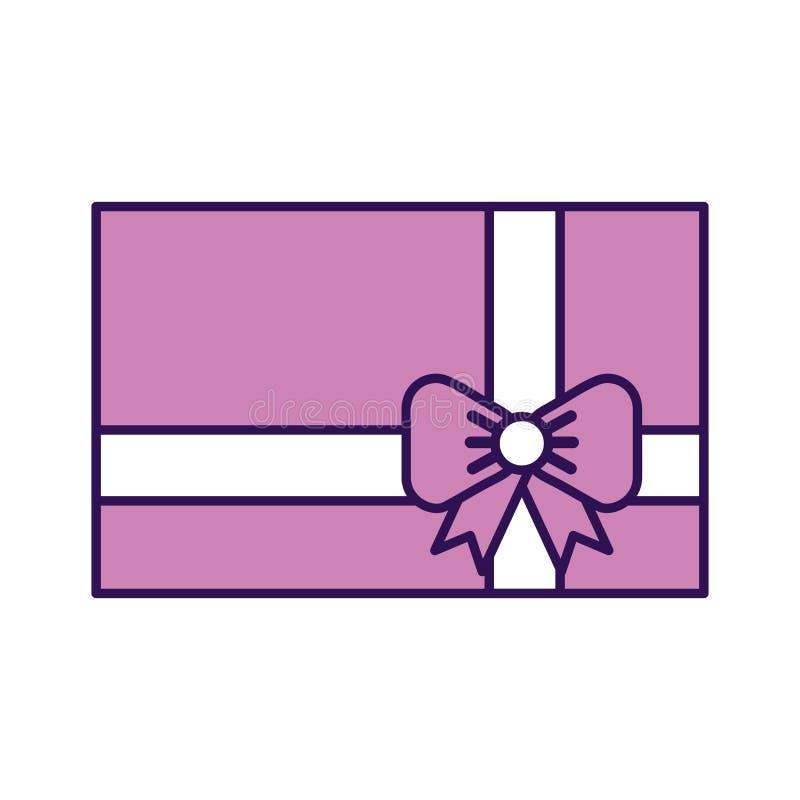 Historieta púrpura linda del regalo stock de ilustración