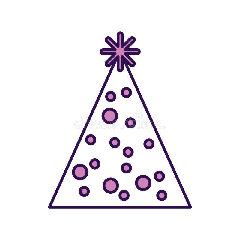 Historieta púrpura linda del sombrero del partido ilustración del vector