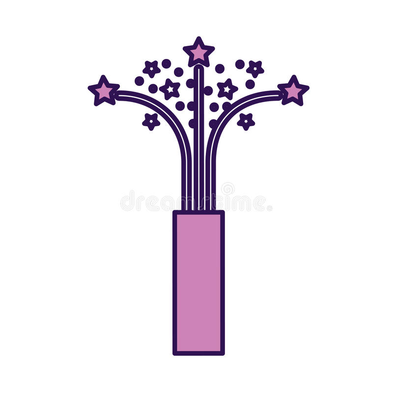 Historieta púrpura linda del tiro del confeti ilustración del vector