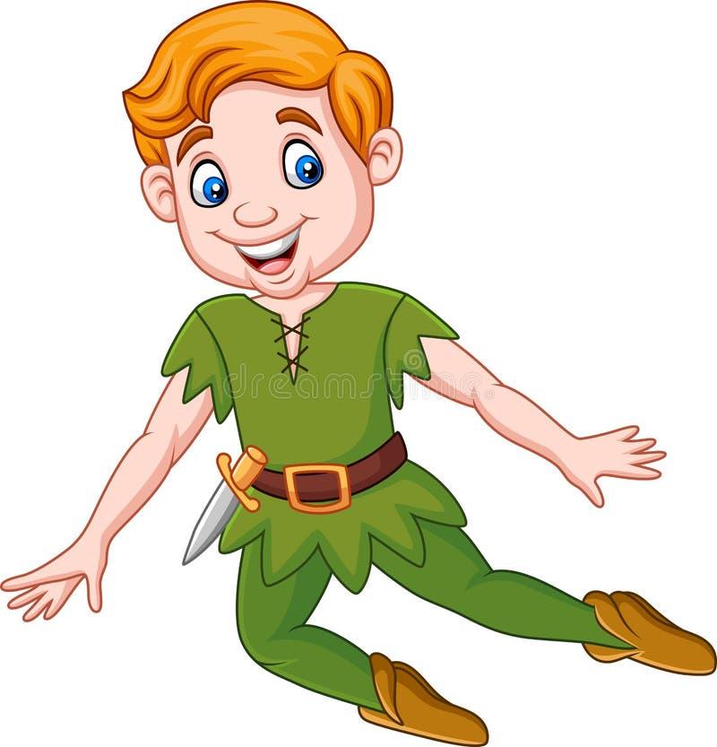 Historieta Peter Pan divertido stock de ilustración