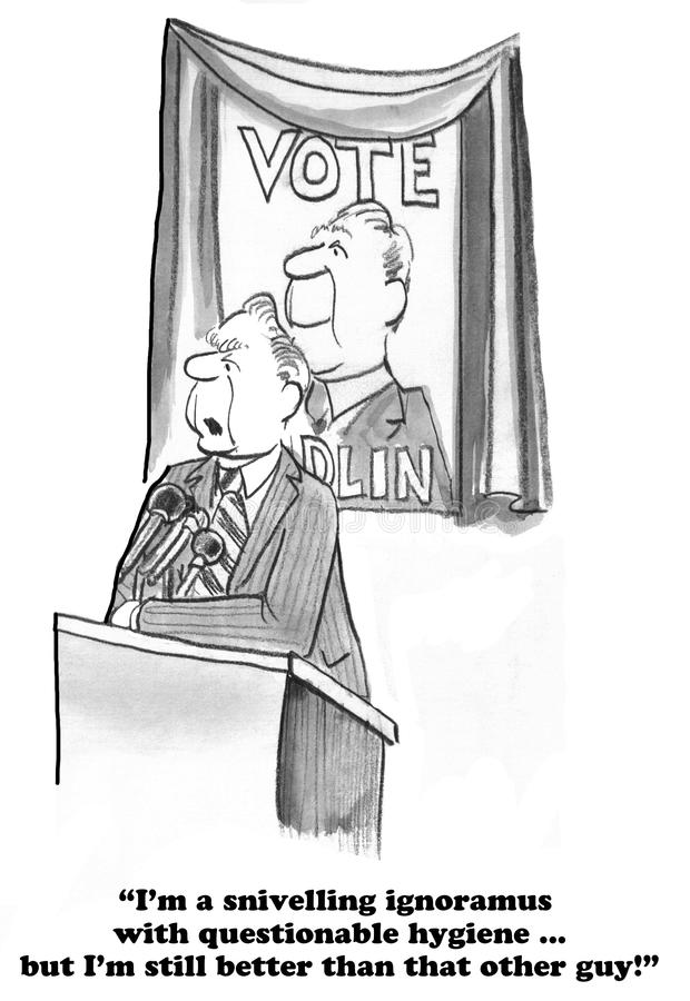 Historieta política ilustración del vector