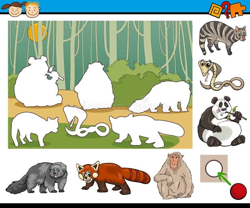 Historieta preescolar educativa de la tarea ilustración del vector