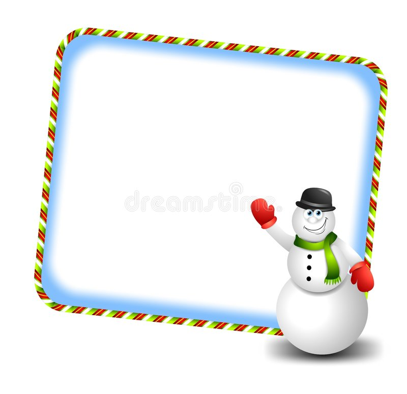 Historieta que agita 3 del muñeco de nieve libre illustration