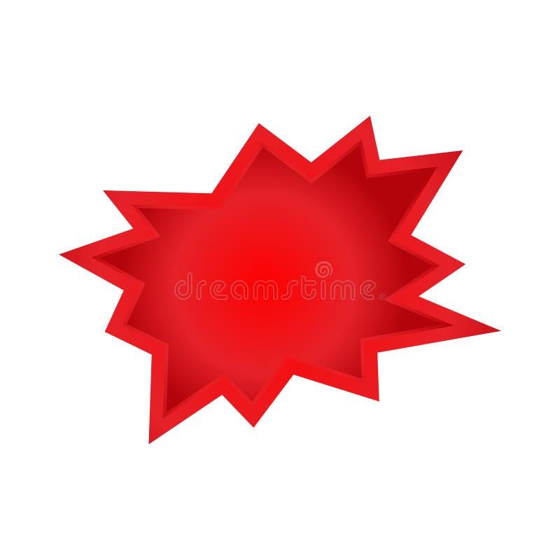 Historieta roja de ClipArt del auge, orden, iconos del descuento, Duro-estricto rojo en los folletos, bandera, producto de Flayer imagen de archivo libre de regalías