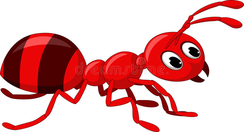 Historieta roja de la hormiga stock de ilustración