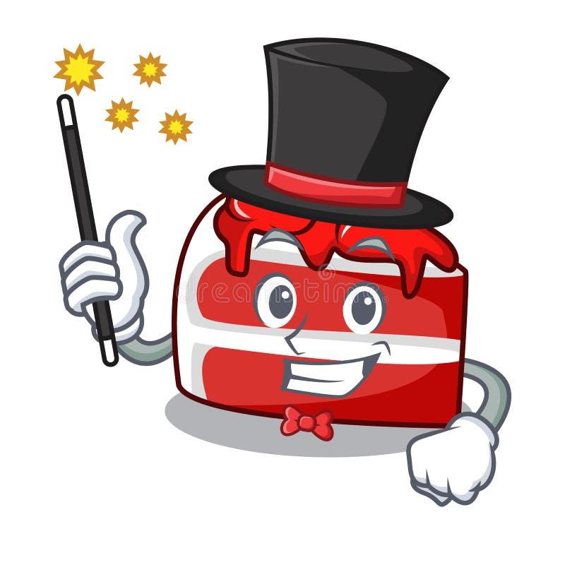 Historieta roja de la mascota del terciopelo del mago libre illustration