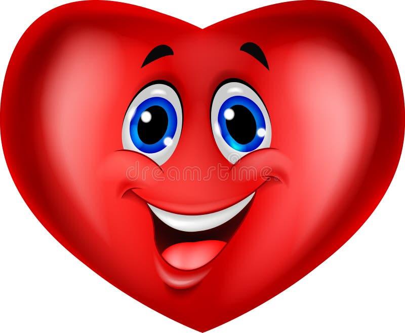 Historieta roja del corazón stock de ilustración