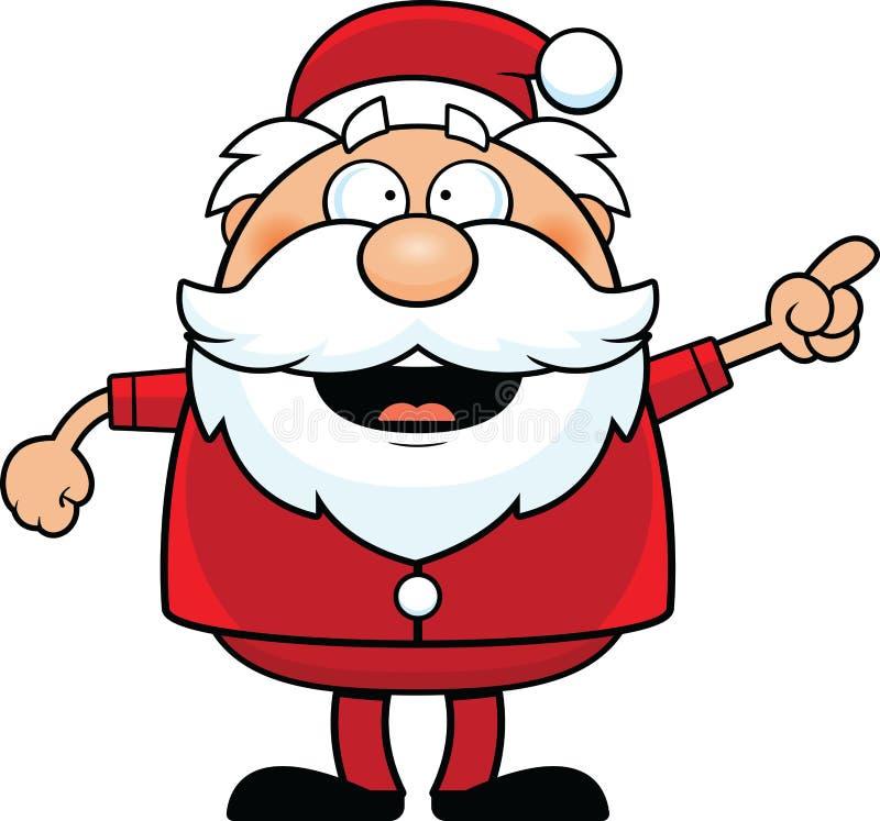 Historieta Santa Claus Pointing libre illustration